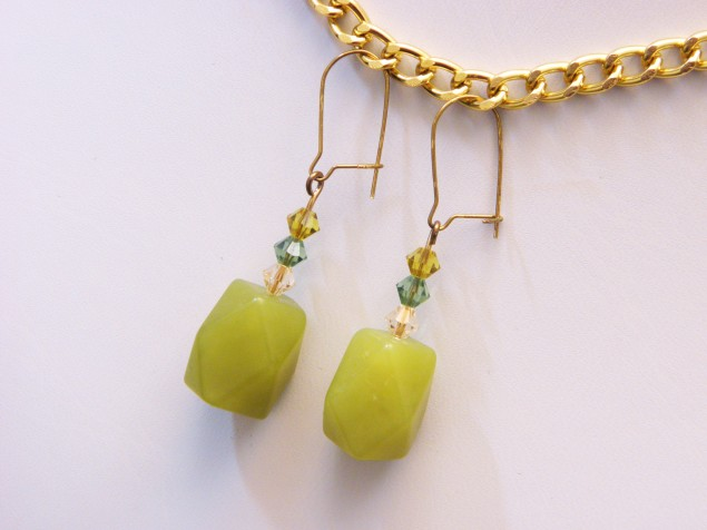 "New ""Jade"" & Crystal Dangles"