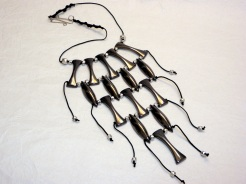Metal Statement Necklace w/Custom Made Hammered Clasp